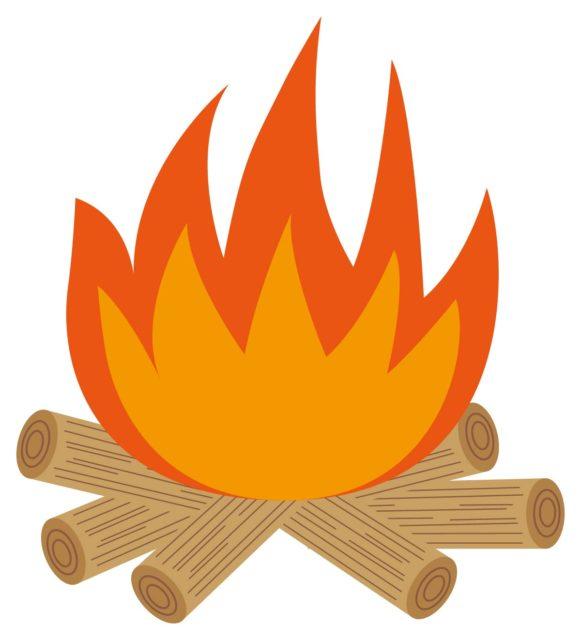 焚き火イラスト