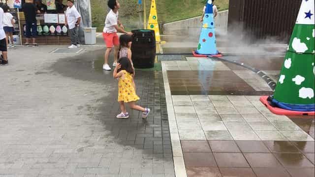 三島スカイウォーク 水遊び