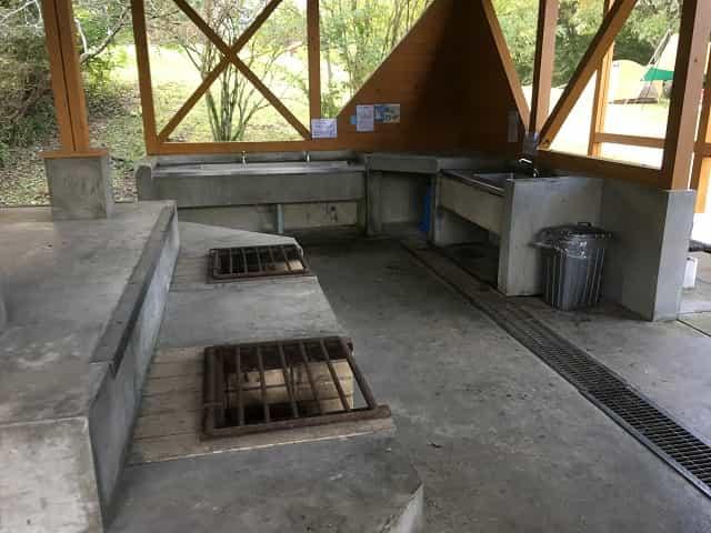 田貫湖キャンプ場 炊事場