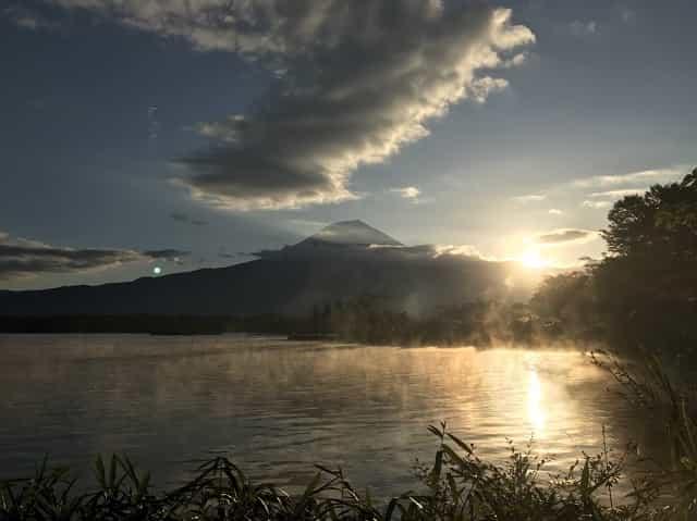 田貫湖キャンプ場 日の出02