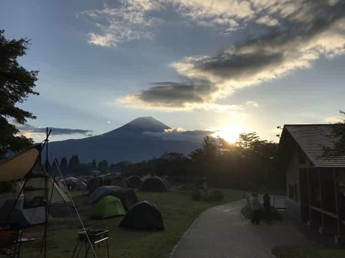 田貫湖キャンプ場 日の出