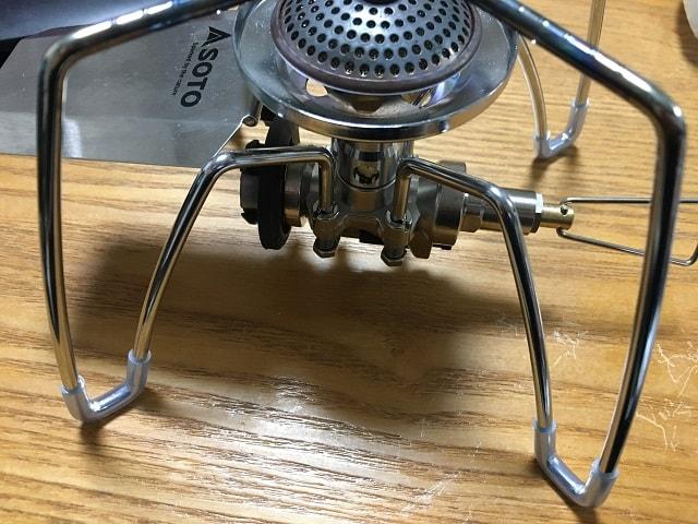 SOTO レギュレーターストーブST-310 シリコンチューブ取付完了01