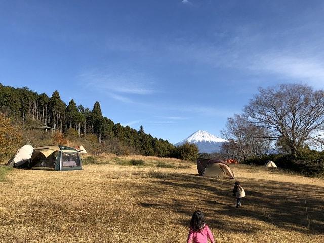 野田山健康緑地公園キャンプ場 富士山の眺め