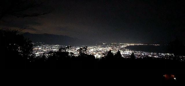 野田山健康緑地公園キャンプ場 あずまやからの夜景