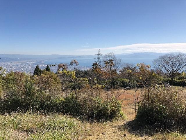 野田山健康緑地公園キャンプ場 あずまやからの景色