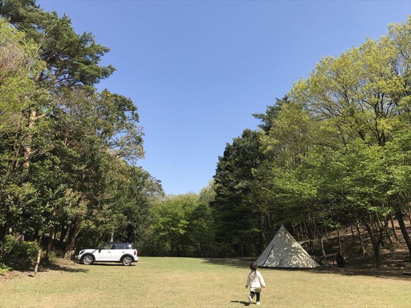 市民の森 第1広場サイト(2018年4月)