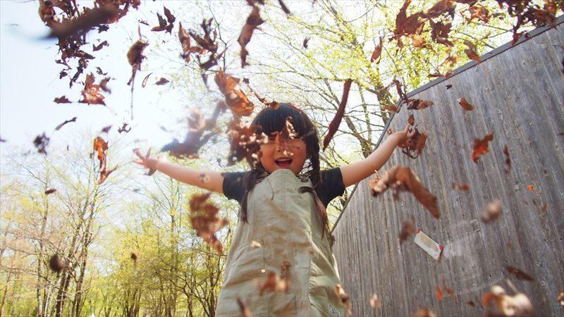 十里木キャンプ場は落ち葉がいっぱい