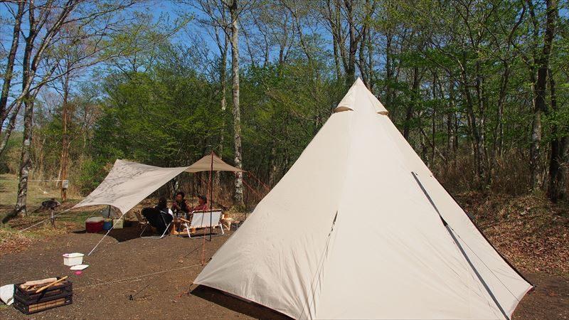 十里木キャンプ場 一番奥に設営♪