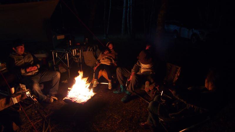十里木キャンプ場 焚き火