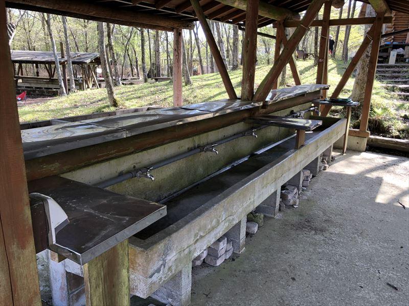 十里木キャンプ場 水場