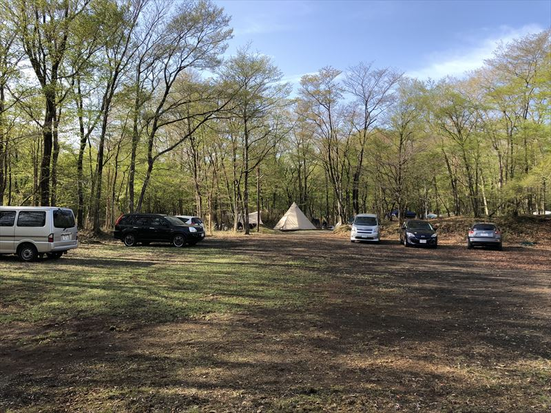 十里木キャンプ場 営火場 つどいの広場