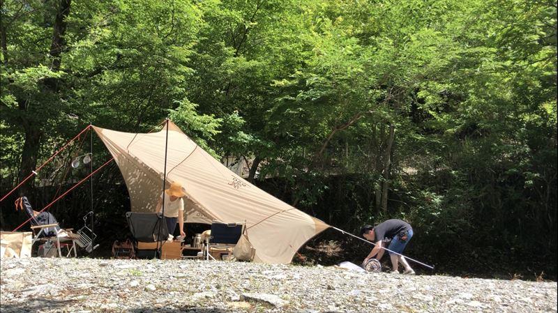 道志の森キャンプ場 撤収の様子01