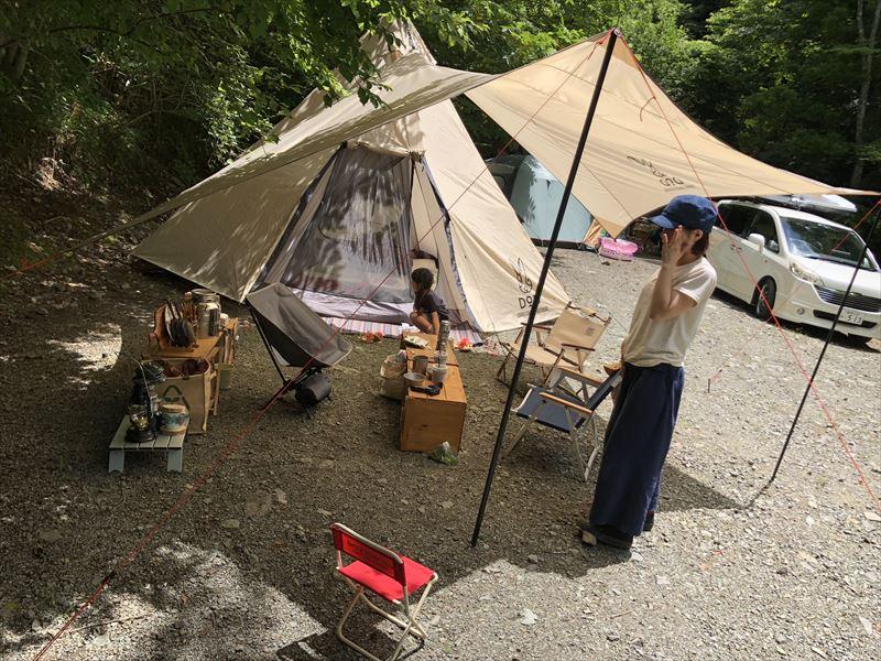 道志の森キャンプ場 設営03