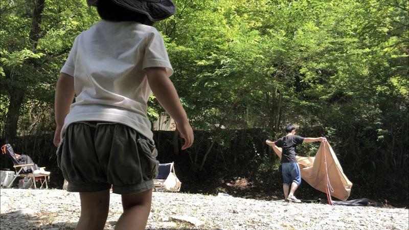 道志の森キャンプ場 撤収の様子02