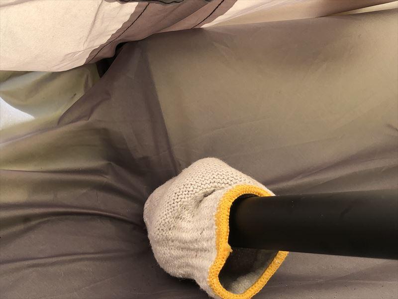 DOD ビッグワンポールテント+フタマタノキワミ 緩衝材とペグ