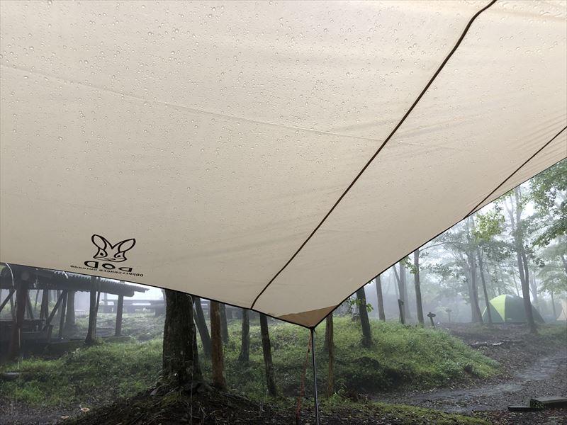 十里木キャンプ 雨キャン
