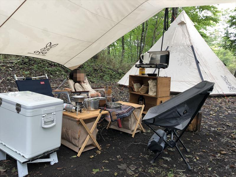 十里木キャンプ場 自サイト01