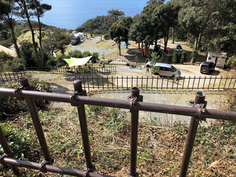 南伊豆 夕日ヶ丘キャンプ場 E-6からの眺め02