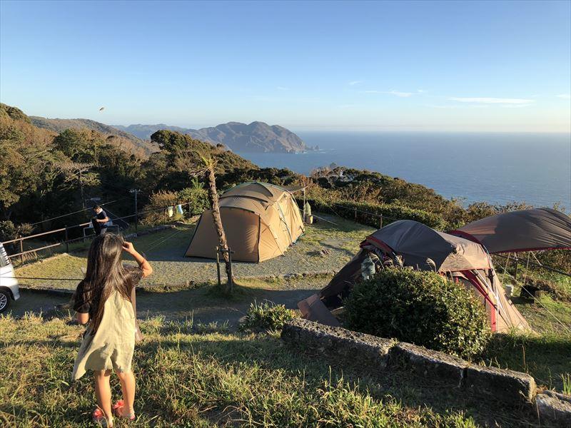南伊豆 夕日ヶ丘キャンプ場 B-2サイトからの眺め