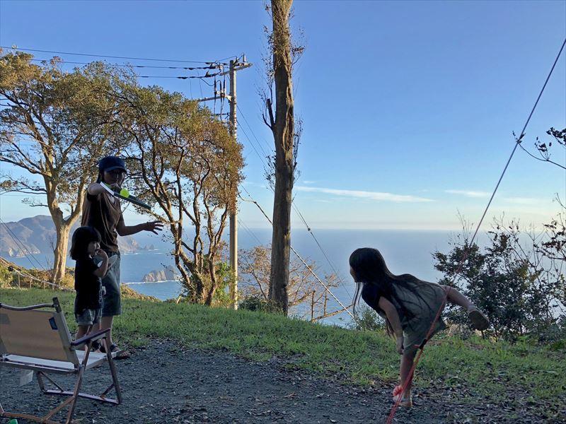 南伊豆 夕日ヶ丘キャンプ場 D-1サイトからの眺め