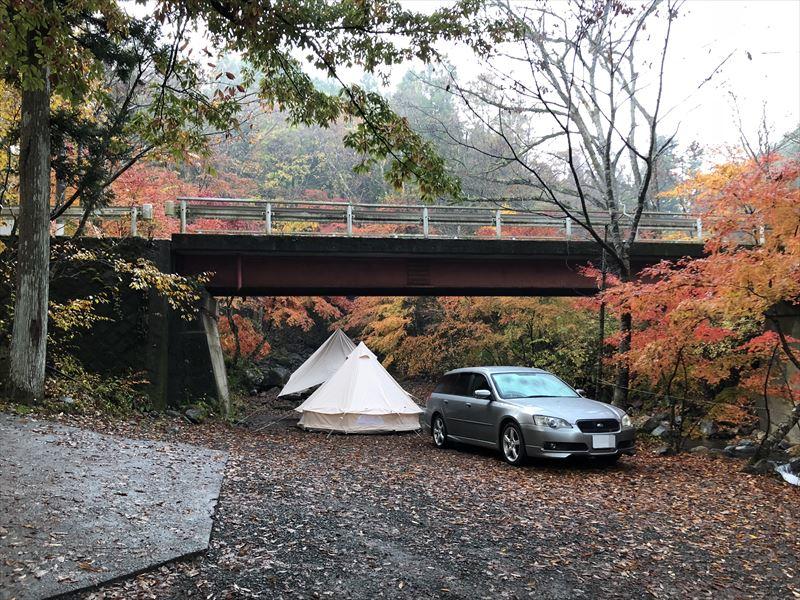 道志の森キャンプ場 管理棟周辺の紅葉