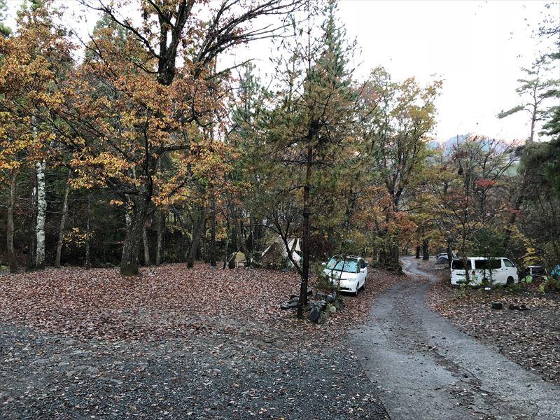 道志の森キャンプ場 入り口のトイレ付近から下流