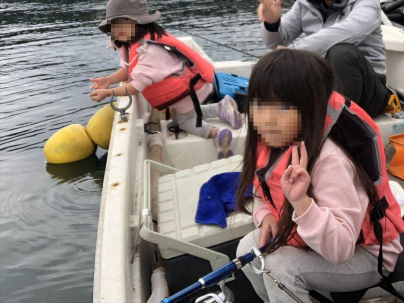 ボートで海釣り ボートは意外と広かった!