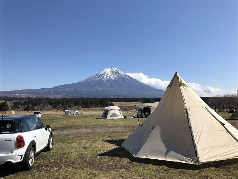 ふもとっぱら 富士山の日でもテントは少なめ