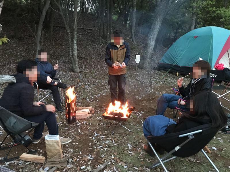 沼津市市民の森 焚き火を囲んで・・・