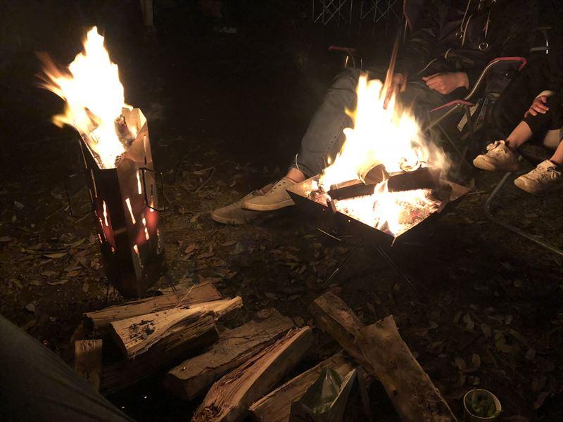 沼津市市民の森 無料の薪で焚き火を満喫!