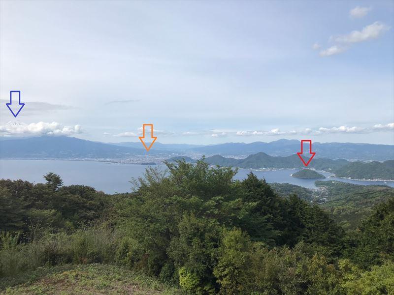 沼津市市民の森 散策コース 展望台からの眺め