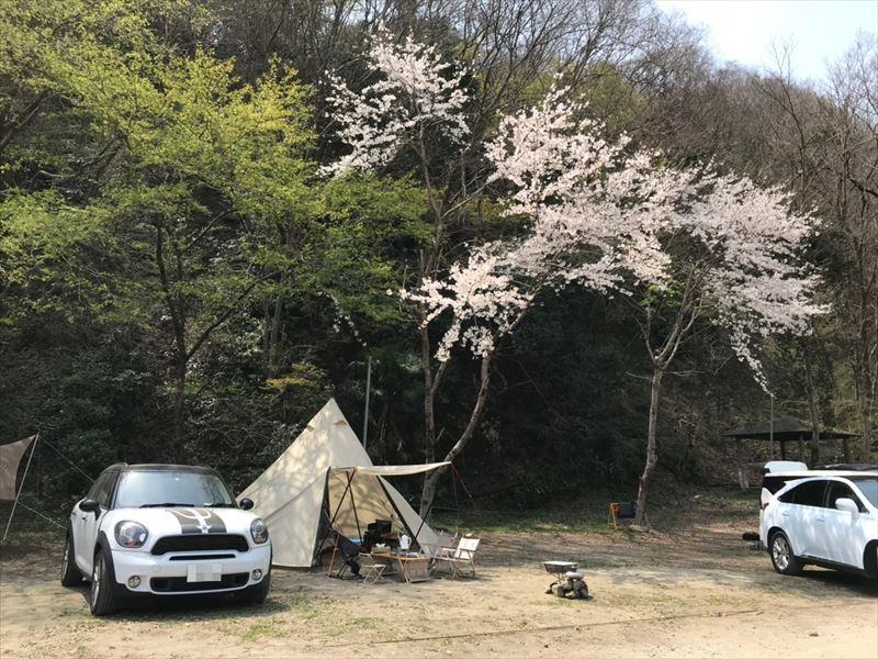 青野原オートキャンプ場 設営04