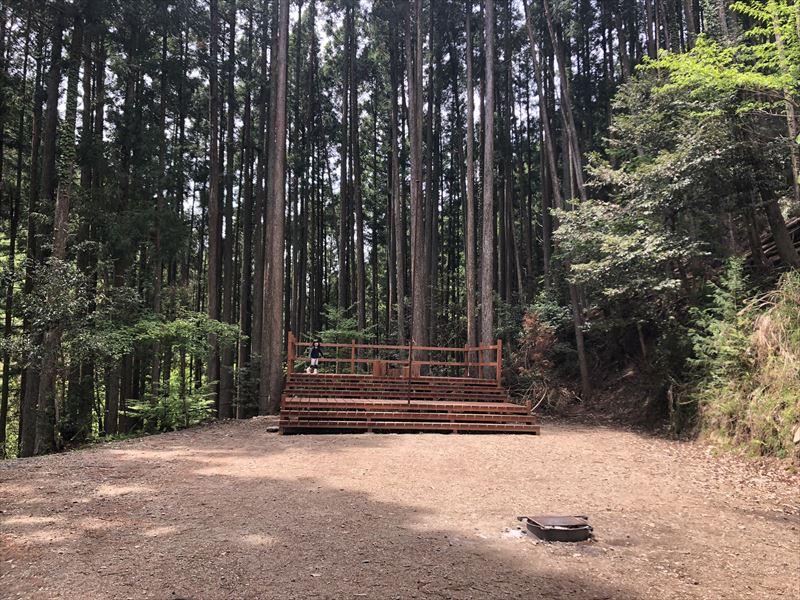 炭焼の杜 明ケ島キャンプ場 焚き火専用プライベートサイト THE FIRE PLACE(ジ ・ファイアプレイス)01