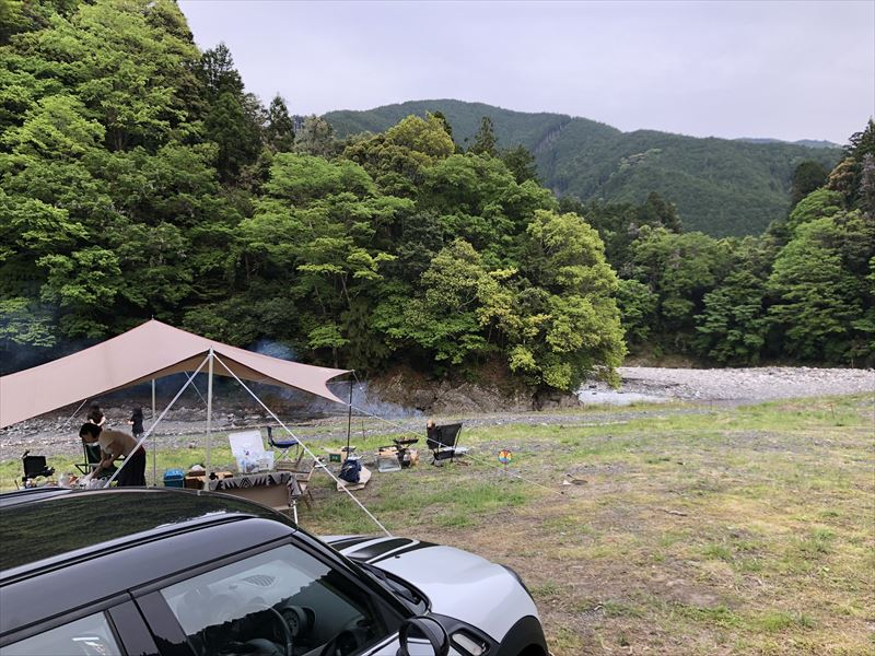 満緑キャンプ場 広大なプライベートサイト03