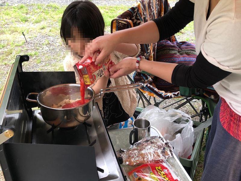 満緑キャンプ場 お料理