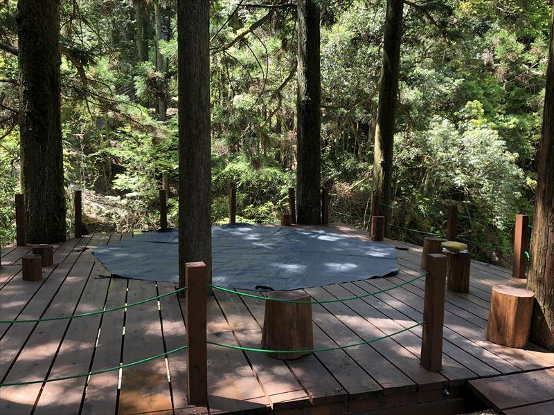 炭焼の杜 明ケ島キャンプ場 満月サイトにDODビッグワンポールテントは立てられるか