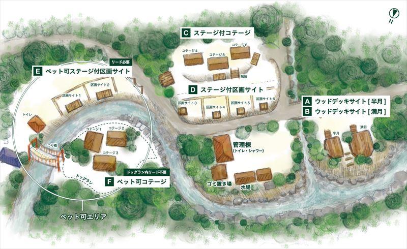 炭焼の杜 明ケ島キャンプ場 MAP