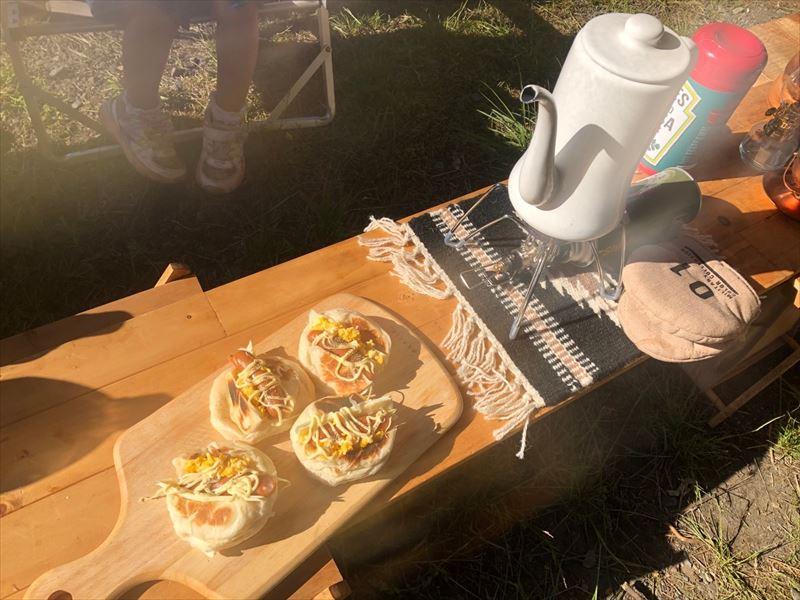 満緑キャンプ場 朝ごパン
