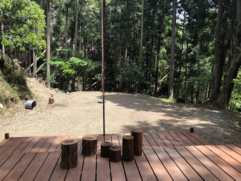 炭焼の杜 明ケ島キャンプ場 焚き火専用プライベートサイト THE FIRE PLACE(ジ ・ファイアプレイス)02