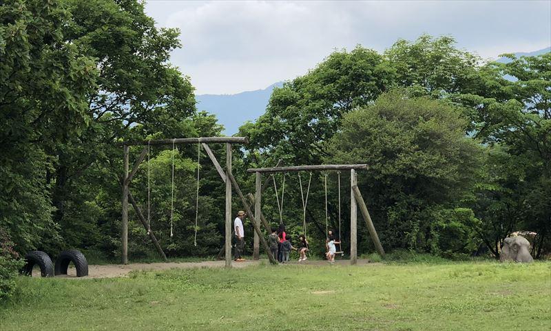 朝霧ジャンボリーオートキャンプ場 Iサイト ブランコ 01
