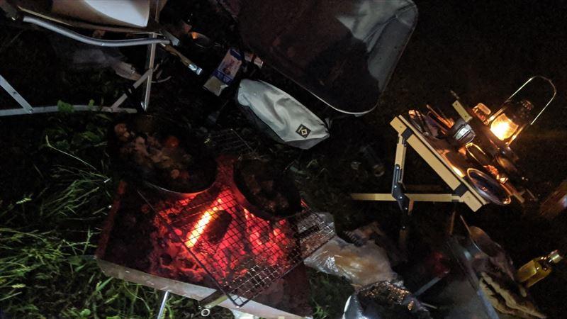 朝霧ジャンボリーオートキャンプ場 焚き火 02