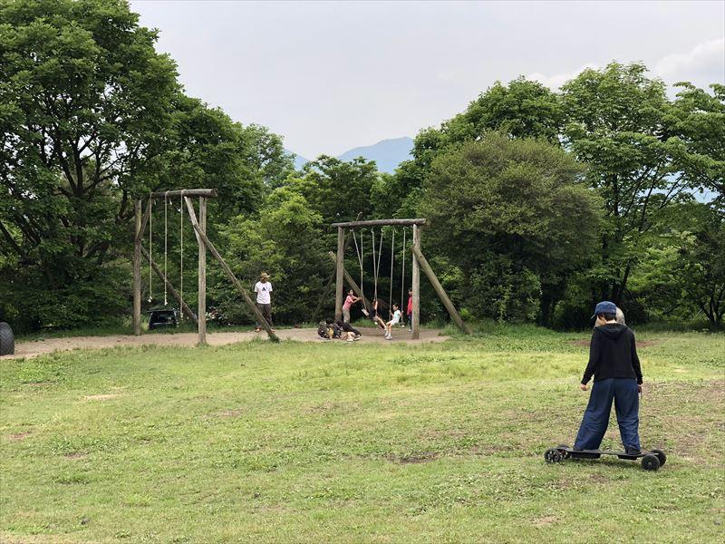 朝霧ジャンボリーオートキャンプ場 電動スケボー Ranger X1 03