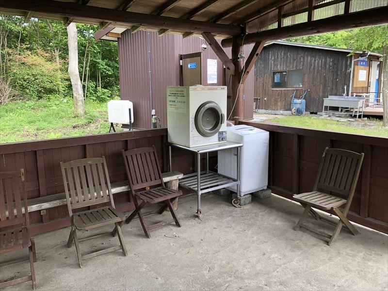 朝霧ジャンボリーオートキャンプ場 Iサイト水場の洗濯機
