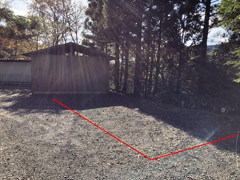 藤川キャンプヒルLUNA・Luna トイレ横 駐車スペース