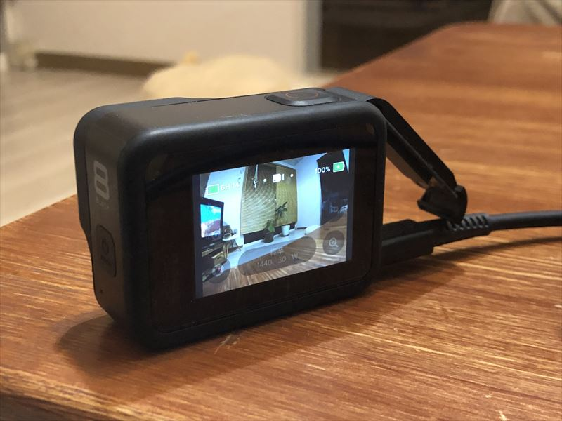 GoPro HERO8 USB給電