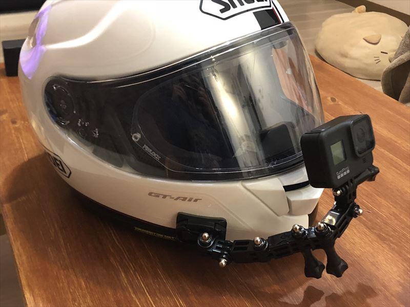 GoPro用オートバイヘルメットチンスイベル3ウェイピボット回転マウントキット+延長アクセサリー