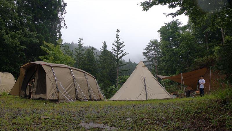 道志の森キャンプ場 アポロン&ビッグワンポールテント