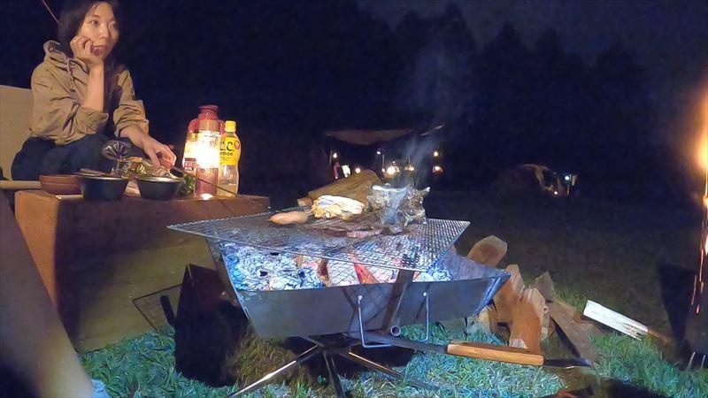 長田山荘キャンプ場 BBQ