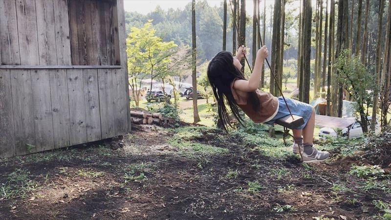 長田山荘キャンプ場 ブランコ(小)