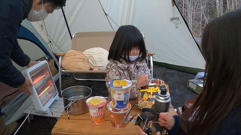 Foresters Village Kobitto あさぎりキャンプフィールド AC電源付きサイト ニトリの電気ストーブを初投入